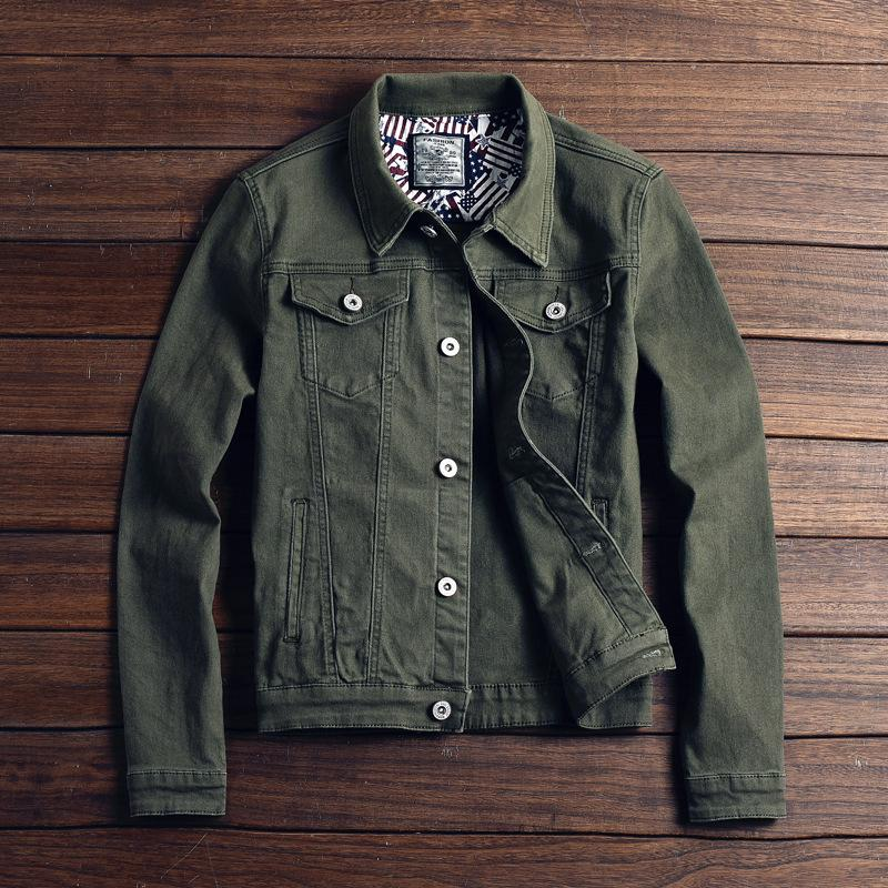 erkekler 2019 İlkbahar Yeni% 100 Pamuk Slim Fit Erkekler Jean Coats Artı boyutu Marka Giyim s