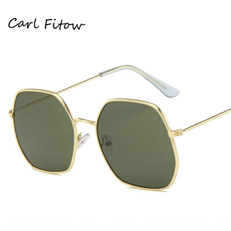2019 Neues Polygon trendy Allgleiches Sonnenbrille dekorative Sonnenbrille Männer und Frauen ins Sonnenbrille o6Pkz