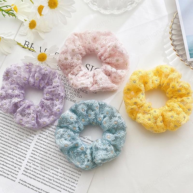 New Fashion beautiful Elegant temperament lace fabric flower Elastic Hair Bands For Women Girls Hair Accessories Headwear