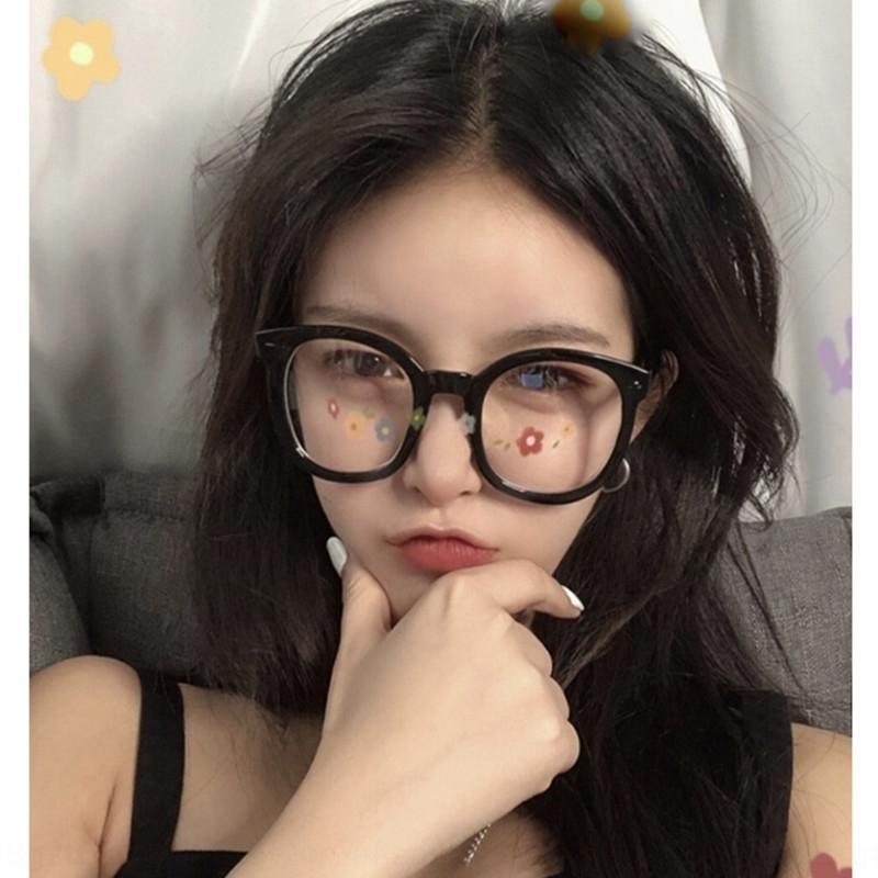 Kleines Fugui TikTok Internet Berühmtheit 2019 Pfeil Nagel Gläser runde Rahmen der koreanische Art großer Rahmen einfache Brille