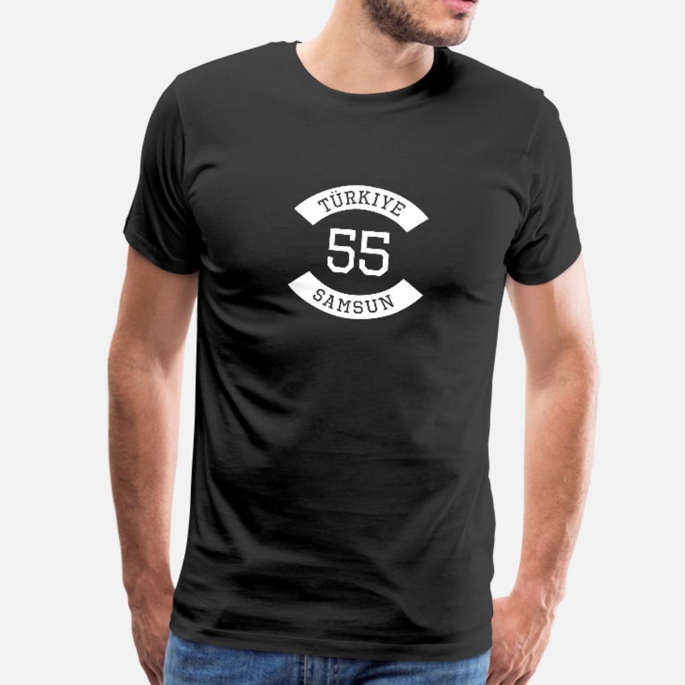 Turkiye 55 camiseta de los hombres Fit Camiseta O-Cuello Apto Apto auténtica primavera normal
