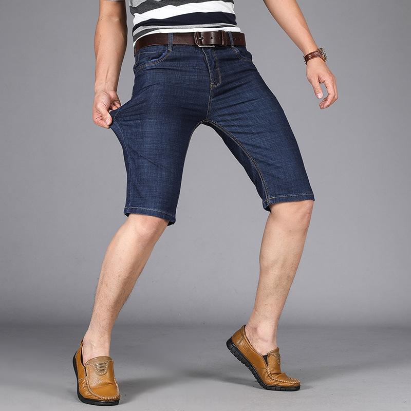 OeUuT New es7q8 Denim Sommer dünne beiläufige Denim und Jeans und Jeans-Shorts bequeme Stretch-Shorts moderne Männer Hosen für Männer