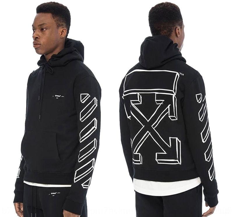 marca de moda estudante hip hop dos homens Wu Yifan mesmo 3D seta impressa camisola hooded camisola Hoodie pHlea