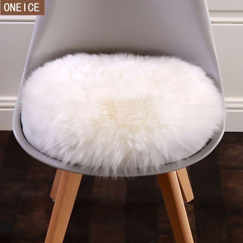 30 * 30cm Housse de coussin de tapis en peau de mouton artificielle douce chambre artificielle couverture moquette chaude à long tapis de sol de la fourrure du siège de cheveux