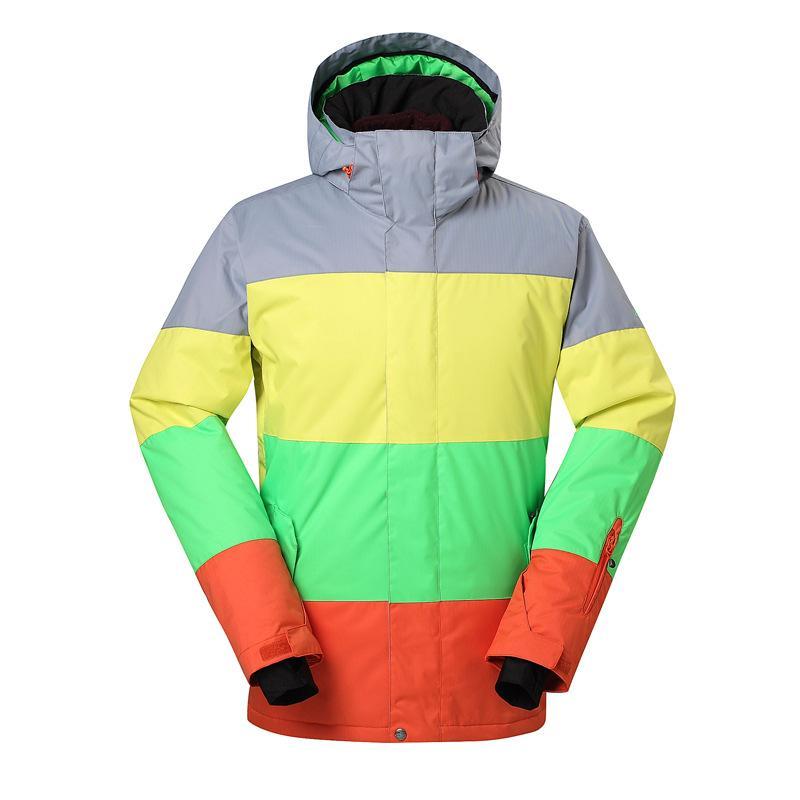 Ski Suit da NEVE Homens GSOU Homem Solteiro Conselho Duplo Conselho Ski Jacket Outdoor Quente Waterproof Brasão respirável Ski resistente ao desgaste