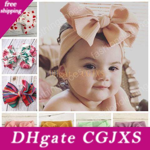 2019 Kids Hair Accessories For Girls Diy Head Bands Baby Girl Hair Bows Cute Children Printed Hairbands Wide Headwraps Boutique Headbands