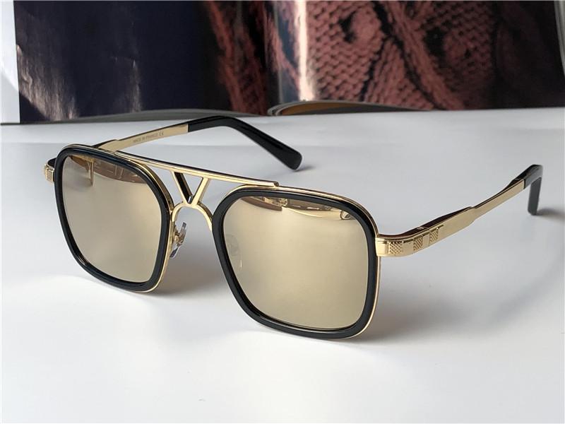 빈티지 레트로 인기 패션 디자인 선글라스 0947 스퀘어 플레이트 프레임 최고 품질의 안티 UV400 렌즈 야외 안경