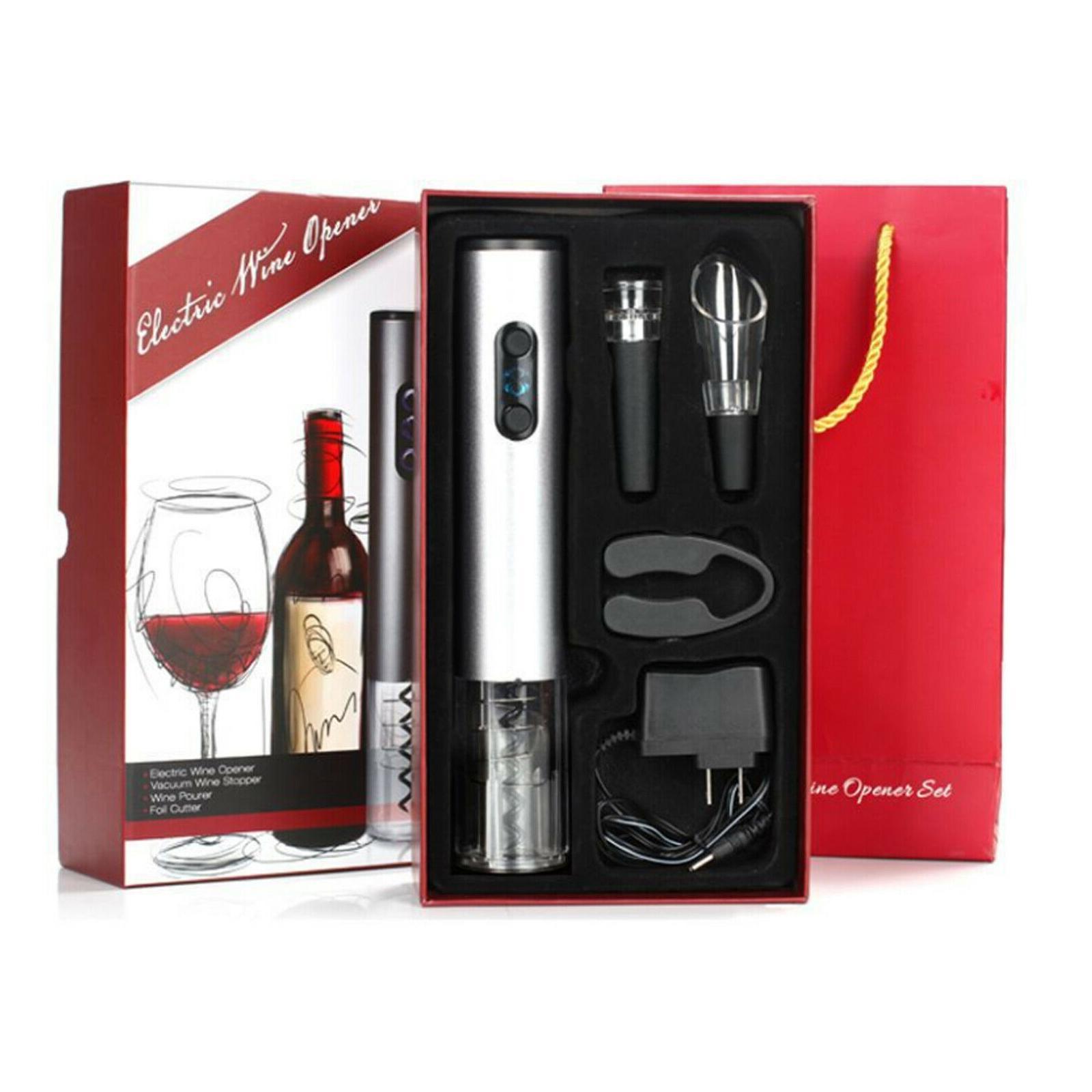 Bottiglia US elettrica libera di trasporto Wine Opener Cordless Opener Kit Cavatappi w / Foil Cutter, Stopper