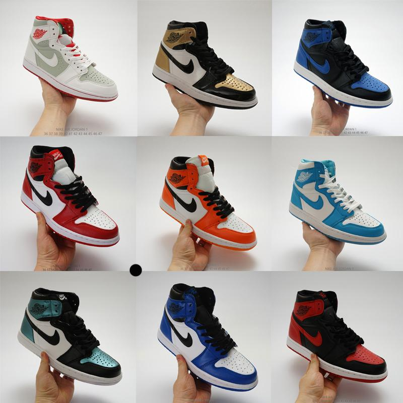 Hombres de la moda las mujeres zapatillas de deporte de diseño j1 1s jd 1 alto jumpman deportivos skate zapatos de baloncesto entrenadores bajas Alpargatas blanco