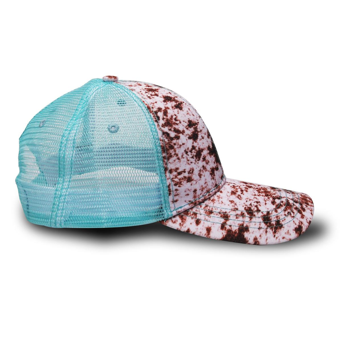 sunflower Snake Baseball Hat Cow Print Leopard Sunflower Caps Serape Mesh Cap Fashion Striped cactus Hats Outdoor Sunhat BWA1225