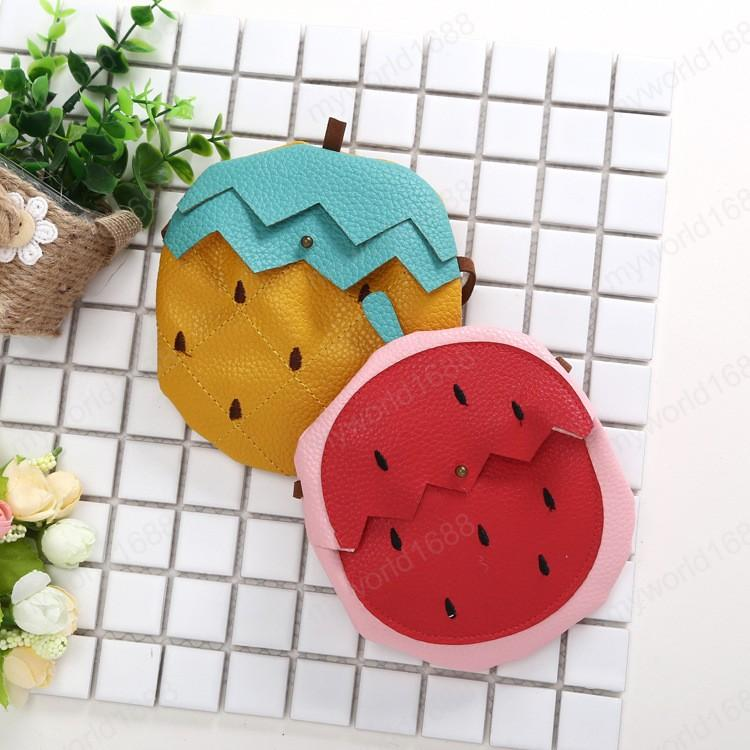 Cute Baby Mini Fruit Bag New Pineapple/strawberry Kawaii Little Girl Small Coin Wallet Pouch Bag Toddler Money Change Purse