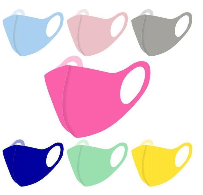 Toz geçirmez Renk Yüz Katı Ultraviyole dayanıklı Karşıtı Sis Kapak Yeniden kullanılabilir Yetişkin Ağız Maske Nefes Koruyucu Maskeler Ahc912