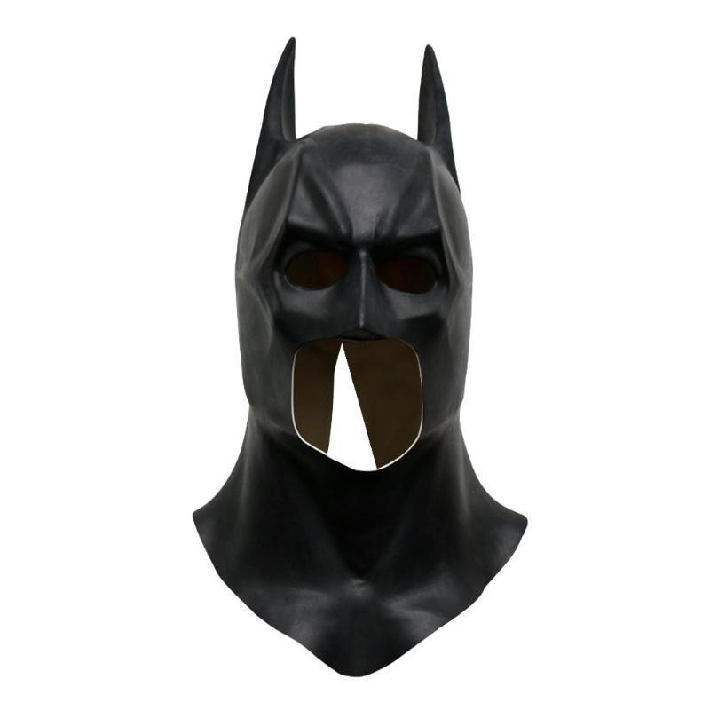 Cadılar Batman Maskeler Cadılar Tam Yüz Lateks Batman Desen Gerçekçi Maske Kostüm Partisi Maskeler Cosplay Dikmeler Parti Malzemeleri