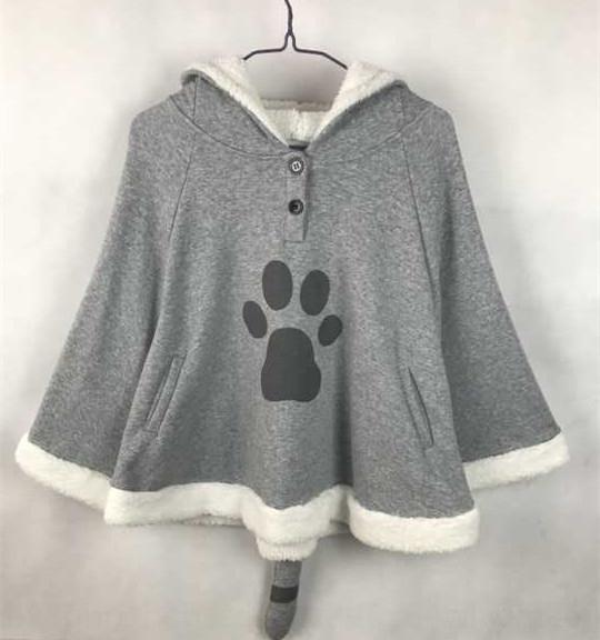 Primavera Nueva gato backyard ropa capa capote suave otoño chica y capa de invierno ropa de anime secundaria suéter capa maestro gato