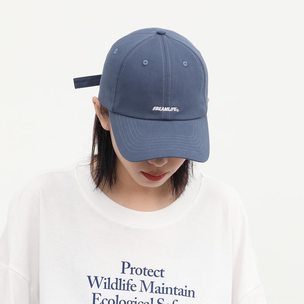 2020 chapéu novo das mulheres coreano estilo hip hop carta boné de beisebol boné macio pára-top bordado marca da moda