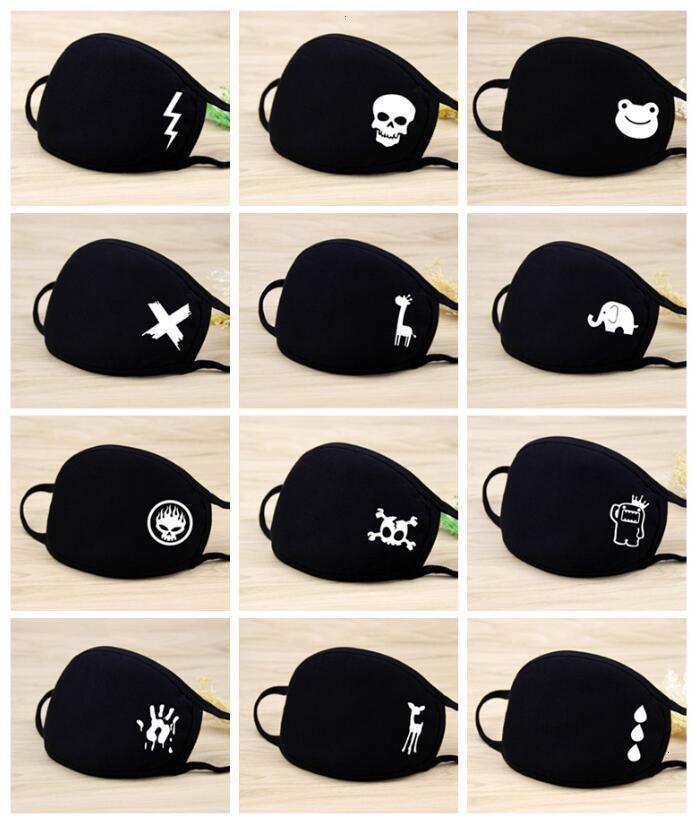 Симпатичные маски против дышащей пыли мультфильм Kid Хлопок многоразовых защитных Загрязнения РМ2,5 Противопыльного Рот Face Kids