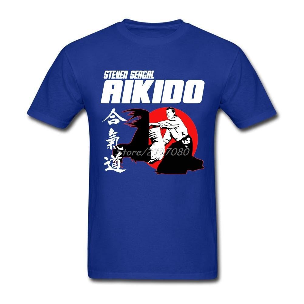 AIKIDO MARTIAL Tişörtlü Büyük Boy Kısa Kollu Özel Giysiler Popüler Marka O-boyun Pamuk Erkekler tişört