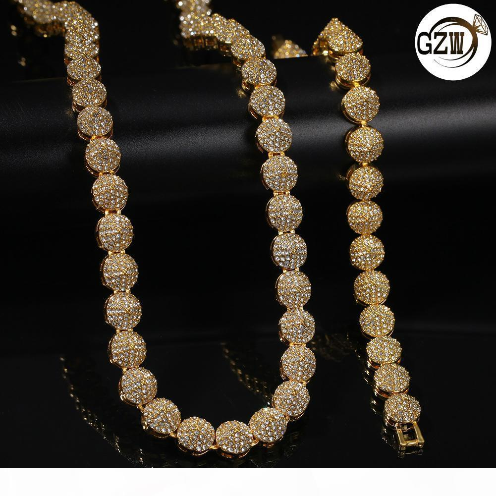Neue Art und Weise Bling Diamant-Kegel-Männer Gold überzogene Kettenhalsketten-Hip Hop Rapper Strass-Halskette Schmuck-Geschenke für Männer Männer für Verkauf