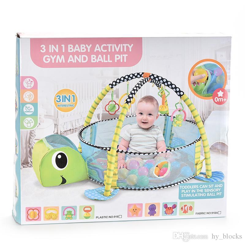 Spiel Ocean Play Pool Cartoon Baby Fechten Spielzeug Matte Blanket Ball 3in1 Schildkröte Krabbeln Faltbares Zelt Pit Pool Geschenk RADQM