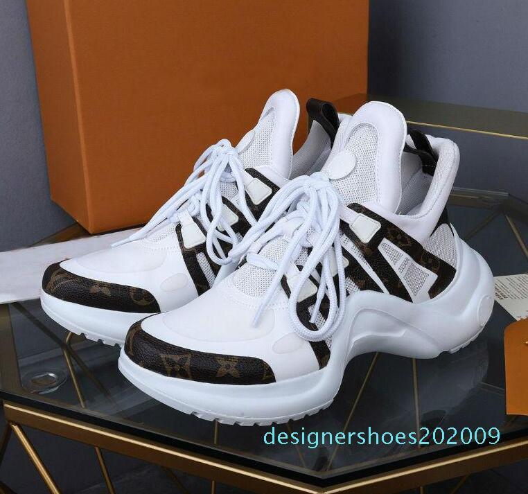 Archlight Sneaker Luxurious Designer Archlight Mens calçados casuais Mulheres Sneaker mais novo Light Weight Formadores Cores misturadas Designer Shoes d09