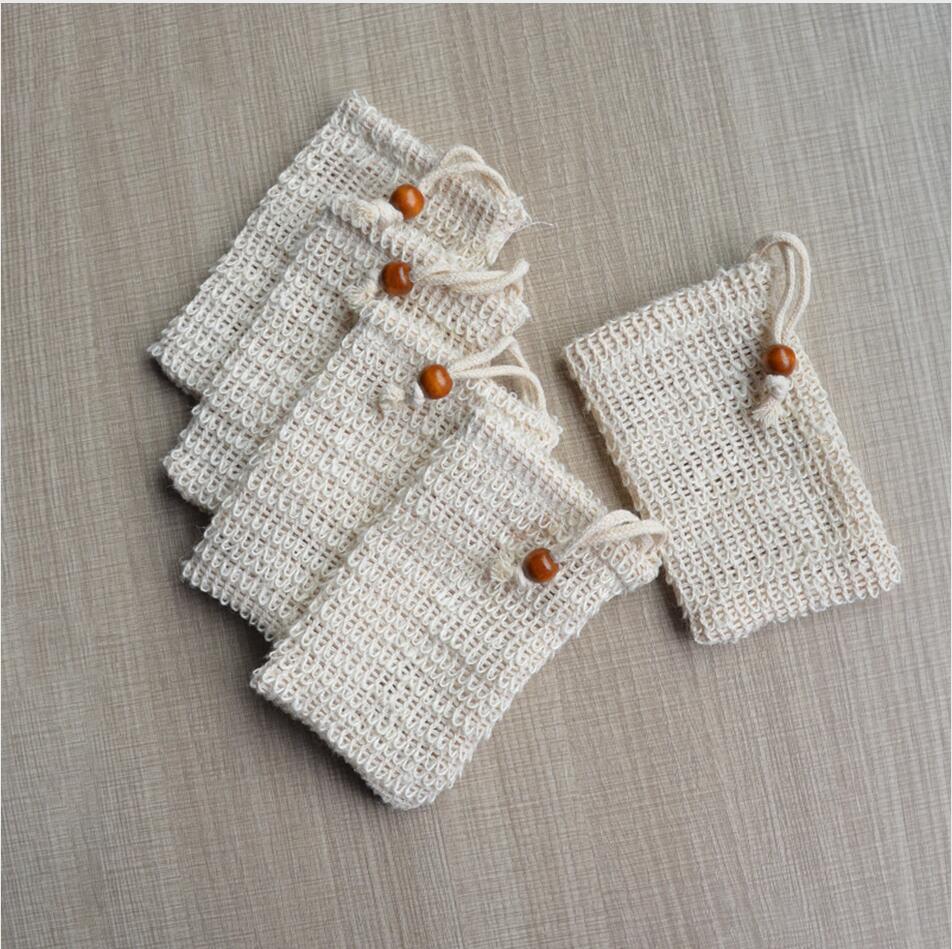 9 * 14 cm Making Bobbles Bag Sapone Sap Saver Sacco Sacchetto di stoccaggio Borsa con scorelaggio Portabicchieri Pelle Skin Surface Pulizia con coulisse Supporto Bagno forniture LJP323