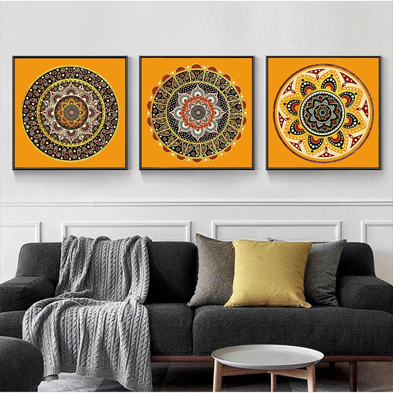 2020 Wall Art Prints Brown Bedroom Wall Decor Mandala Religion Canvas Painting Wall Pictures Living Room Home Decor No Frame Artwork From Goodcomfortable 2 99 Dhgate Com