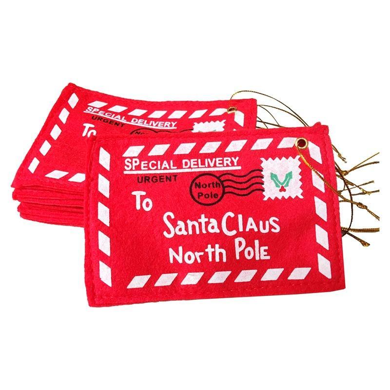 عيد الميلاد عطلة الديكور للمنزل الأحمر غير المنسوجة مغلف عيد الميلاد بطاقات كاندي حقيبة زينة enfeites المظاريف للحصول على بطاقات هدية ث-00283