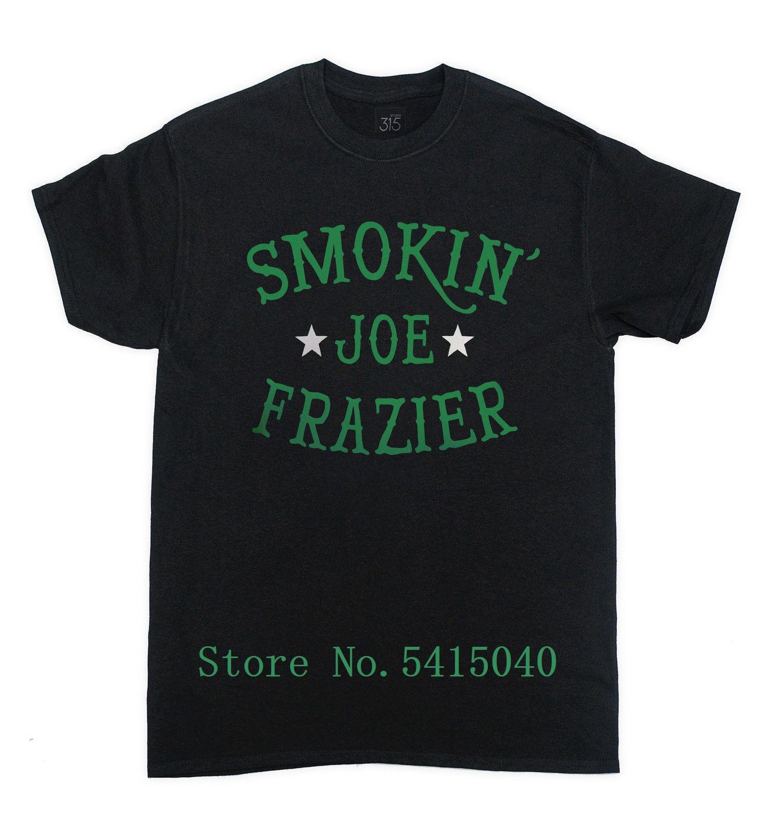 Smokin' Джо Фрейзер T-Shirt - Мода бокса в супертяжелом Легенда ретро Tee Винтаж Прохладный Pride T Shirt Men Мужская футболка