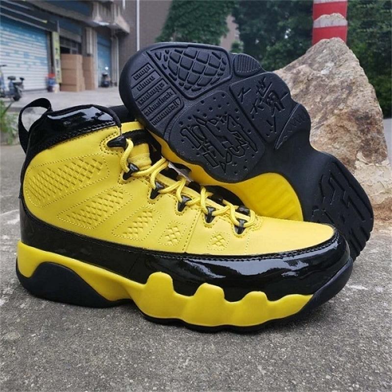 Homme Nouveau Chaussures Arrivée Basketball Jumpman 9S Jaune Outdoor 11s Bumblebee Panier espadrille 12s 14s classique Chassures anti-dérapant
