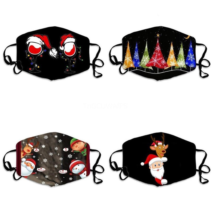 1pcs Cartoon Masque Mode anti-buée poussière Masque vent Dents chaud Barbe Ours Imprimer la bouche Masque Party Favor # 657
