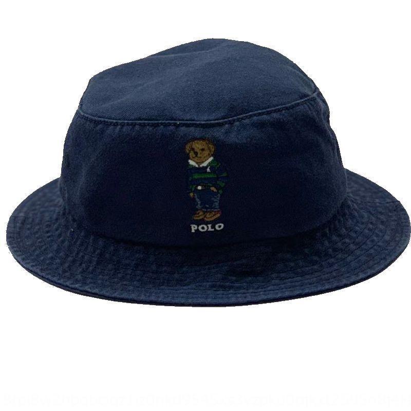 Verde polo chapéu RRL estilo coreano urso tampão do chapéu de pescador de homens boné de beisebol de moda de beisebol dos homens