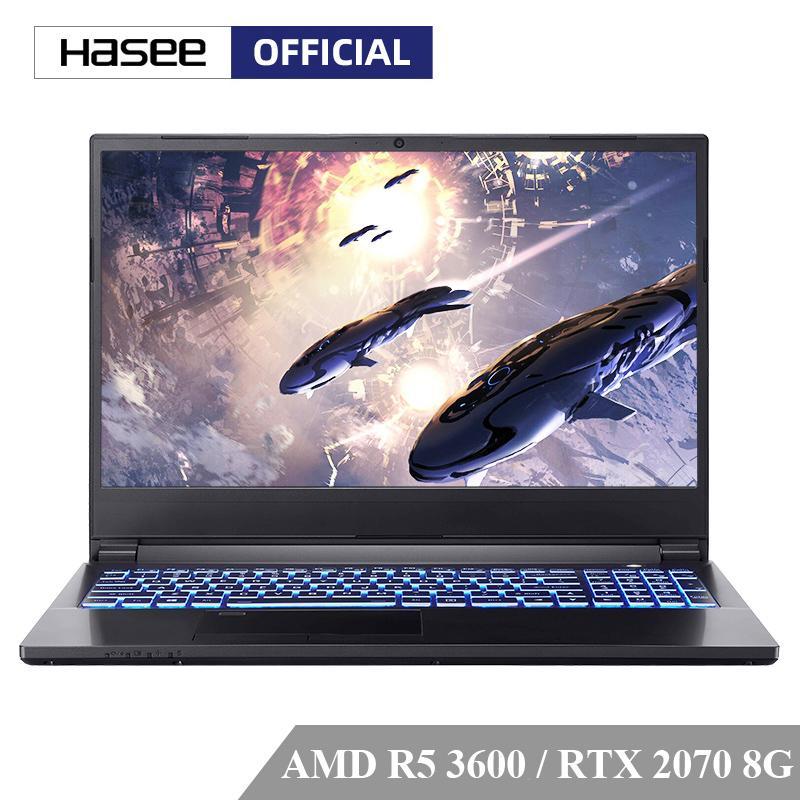 HASE M7-E6S3 Laptop para jogos (AMD Ryzen 5 3600 + RTX2070 8G / 16GB RAM / 512G SSD / 15.6''144Hz 72% NTSC IPS) Hasee Notebook