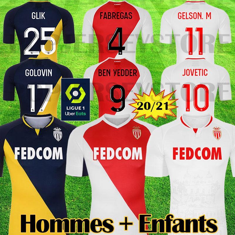 2019 Top Quality AS Mónaco FALCAO J. MOUTINHO SIDIBE Rojo camisetas de fútbol LEMAR JOVETIC GOLOVIN 2018 19 maillot de foot Flocage JORGE camiseta de fútbol