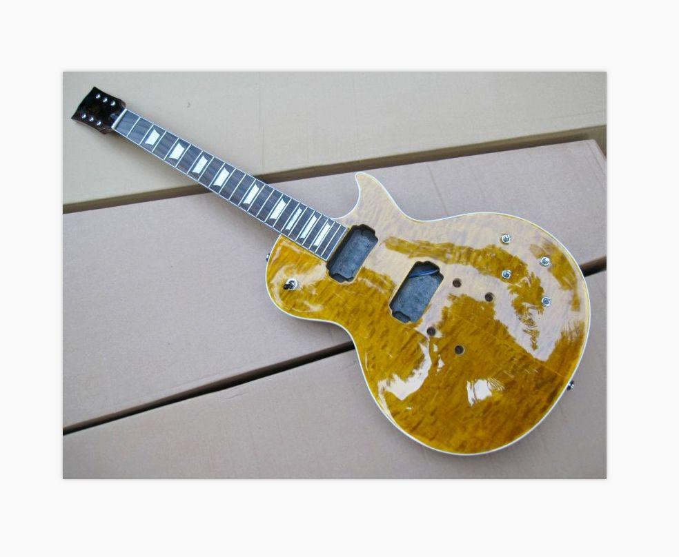مجموعات لم تنته الغيتار الماهوجني مبطن القيقب أعلى الجسم المفكك الكتريك جيتار