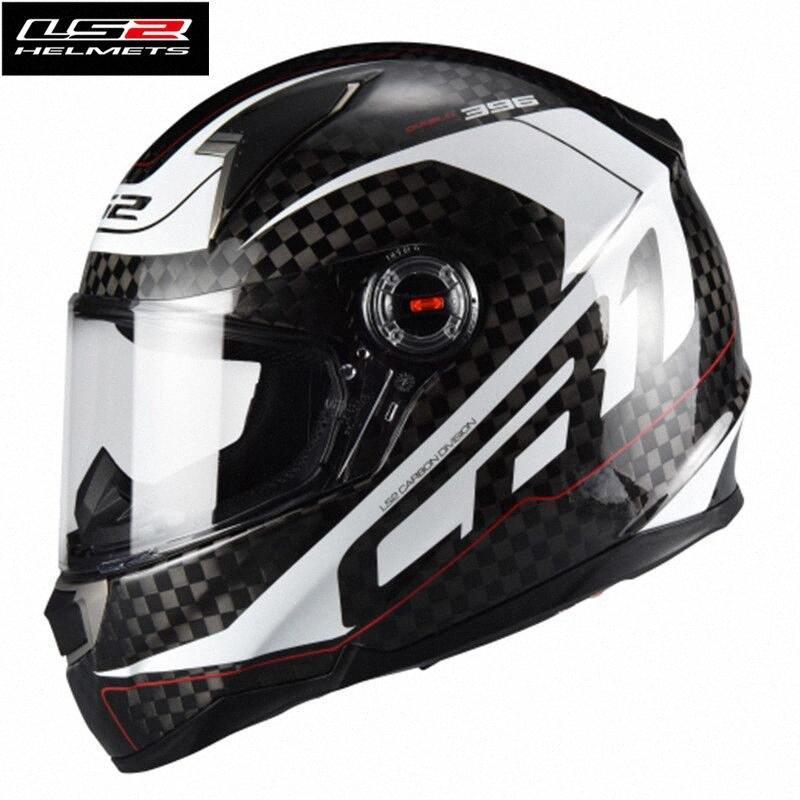 Sıcak Satış Ls2 FF396 Karbon Elyaf Tam Yüz Yarışı Motosiklet Kaskı Capacete Ls2 Casco Moto Kask ECE Sertifikası Erkek Kadın KAjq #