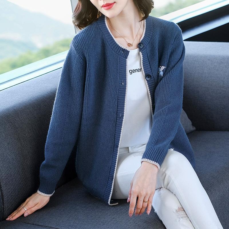 Wekky 9W2Gm Erken hırka kadın kısa ilkbahar ve sonbahar yeni 2020 giyim erken sonbahar Kadın Batı kazak ceket tarzı Triko örme
