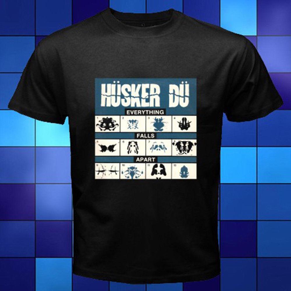 Nueva Husker Du todo cae Appart cubierta del álbum de la camiseta Negro Tamaño S-3XL Casual manga corta camiseta de la novedad