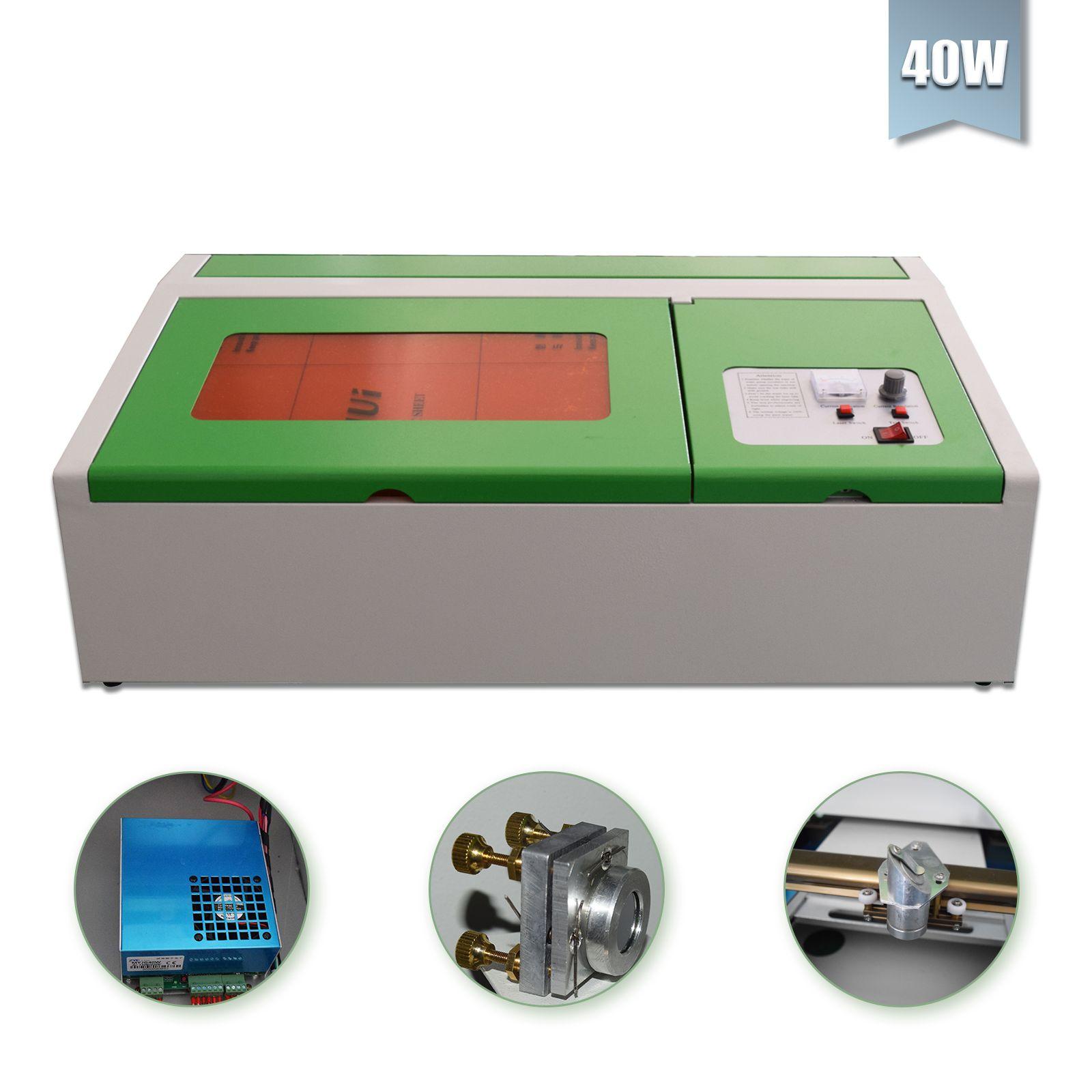 40W CO2 ليزر كتر الليزر وآلة نقش للمعادن 300x200mm ليزر حفارة بروتابلي الخشب عمل فنية أفضل