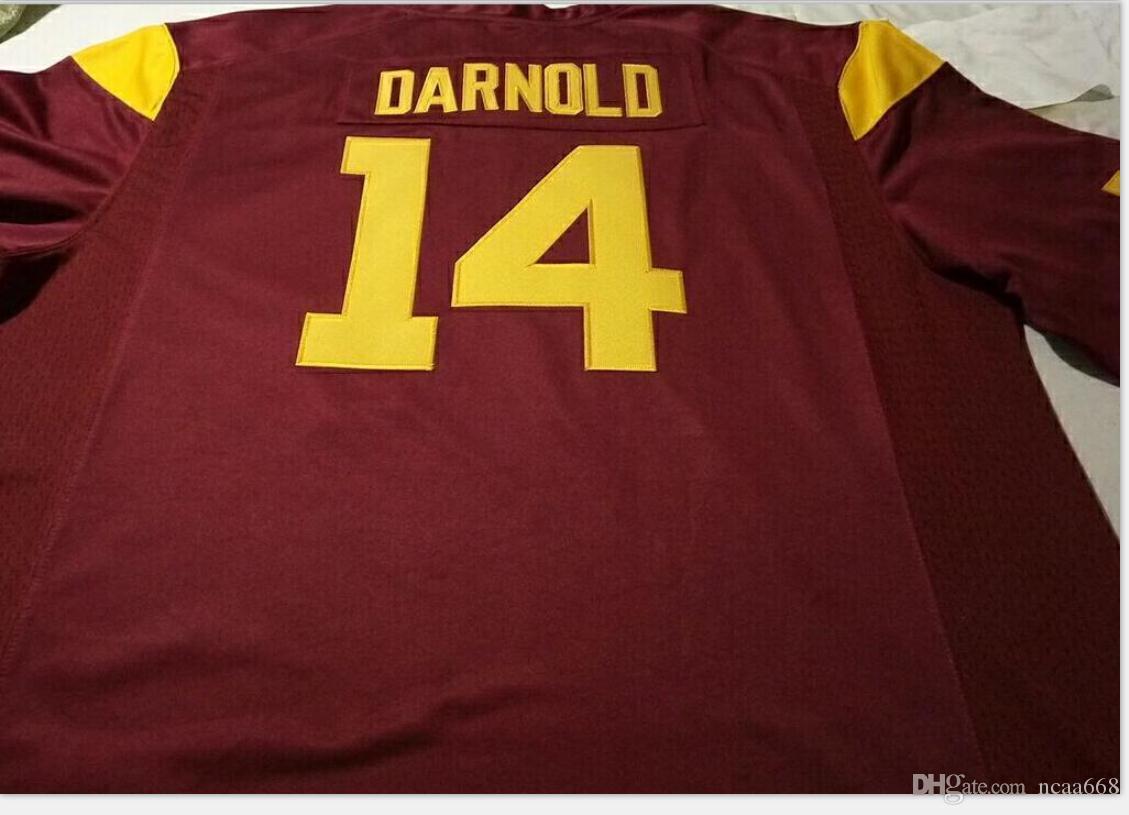 Billige Männer # 14 rot weiß Sam Darnold USC Trojaner Alumni College Jersey S-5XL oder benutzerdefinierte Name oder Nummer Jersey