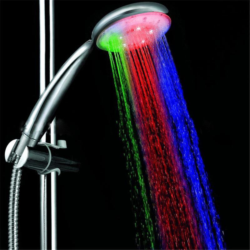 PVIVLIS LED 빛의 샤워 꼭지 샤워 다채로운 플리커 헤드 물 - 절약 핸드 헬드 큰 비 Ducha Chuveiro
