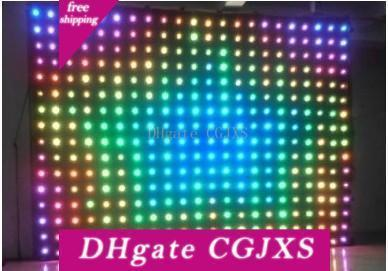 P18 4m *5m Led Vision Curtain Rgb Led Fireproof Led Video Curtain For Dj Wedding Backdrops Off Line Mode Video Curtain Dmx Controller Llfa