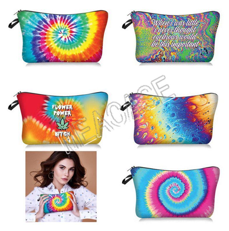5 Makeup Handbags Pouch Fashion Tie-dye Purses D81208 3D Women Bag Clutch Hand Ladies Storage Toiletry Bags Styles Cosme Rtqnr