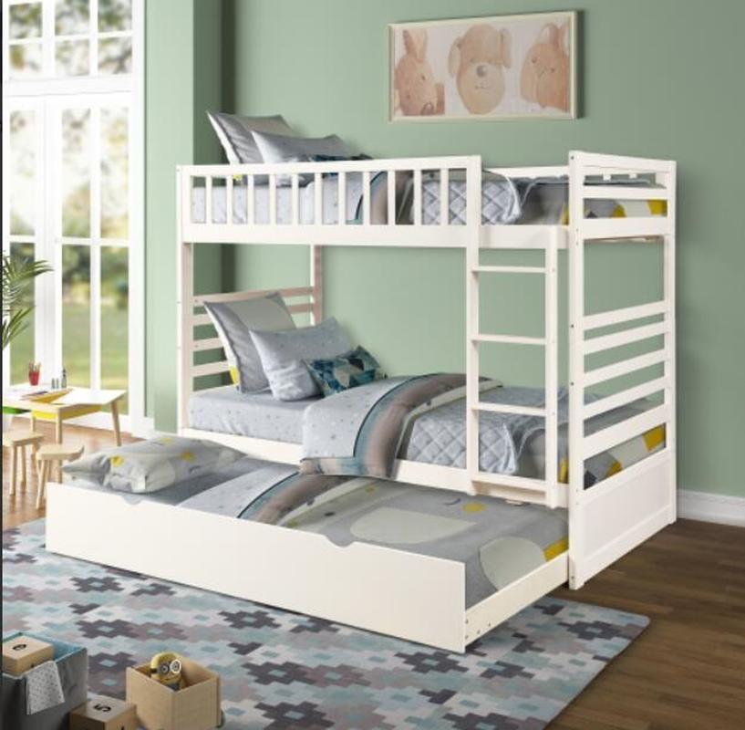Нас аксессуары США по двум двумя двухъярусной кроватью с двухъярусной двуспальной кроватью в белой отделке