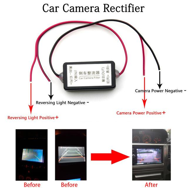 Car DVR Vehicle Camera Oterleek 12V DC Power Relay Capacitor Filter Connector Rectifier for Car Rear View Backup Camera