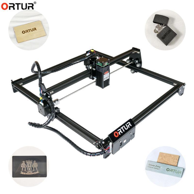 2020 새로운! ortur 레이저 조각사 커터 레이저 + 조각 + 기계 마크 프린터 400 * 430mm 영역 목공 도구 레이저 고글
