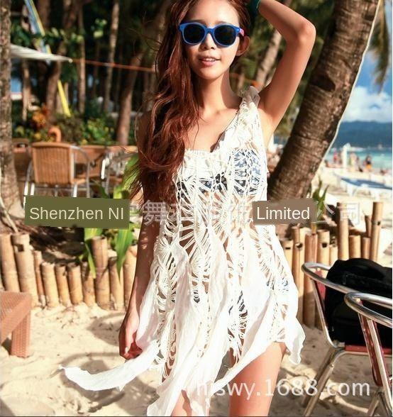 saia malhas blusa praia Gancho Praia biquíni exterior para k8kGB Bikini Mão blusa mulheres saia oca-out irregular