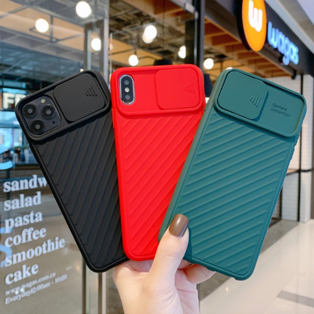 أحدث عدسة الكاميرا قضية الهاتف حماية لiPhone11Pro ماكس XS X XR 6 7 8 6S بالإضافة إلى شريحة عدسة كاندي غطاء سيليكون ضد الصدمات