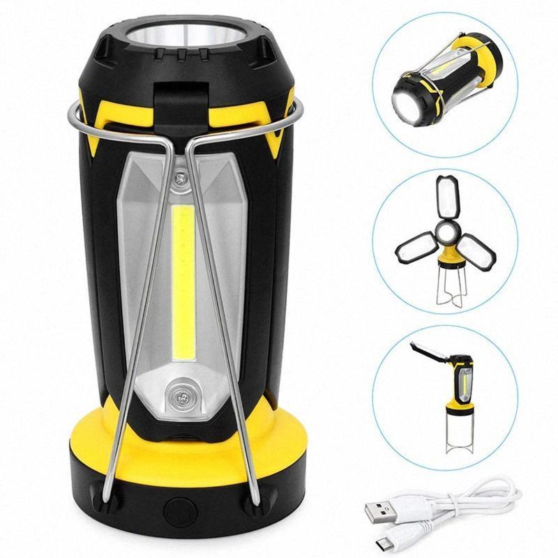 COB Kamp Işık USB Şarj edilebilir Taşınabilir Fener Çadır Lambası Su geçirmez Projektör Acil Işıklar Çalışma Yürüyüş Kamp Camp 10KT # için