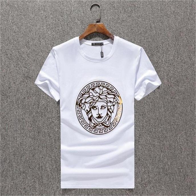 Yaz 2020 Yeni marka Tasarımcı Erkek Giyim Tasarımcısı tişört Üst düzey pamuk baskılı kısa kollu yuvarlak boyun tahtası tişört # QQ255