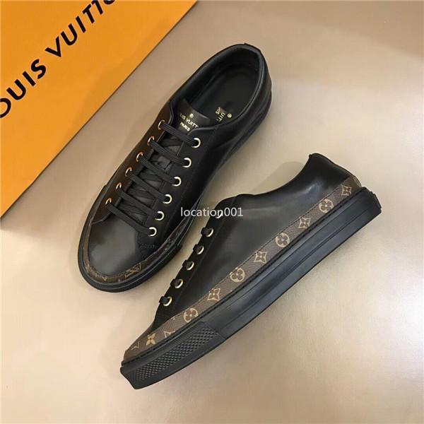 Louis Vuitton  logotipo originais de moda homens de couro liso luxo 2.020 top nova marca correndo formadores 38-44